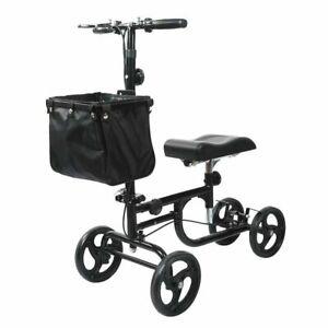 elenker steerable knee deluxe medical scooter black