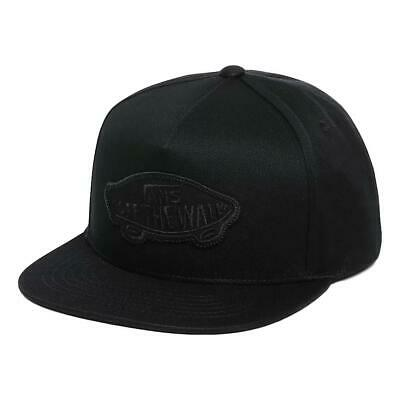Vans NEW Men's Classic Patch Snapback Cap - Black / Black BNWT