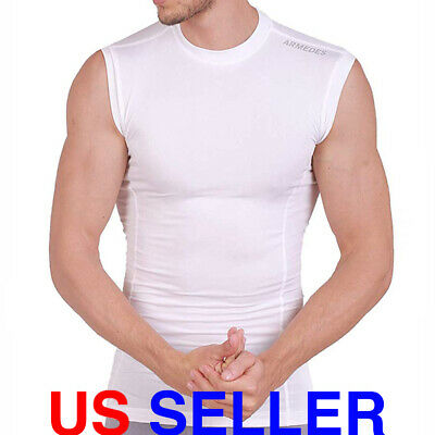 ARMEDES Mens Sleeveless T-Shirt Cool Dry Compression Baselayer AR 121 Fit Dry Sleeveless