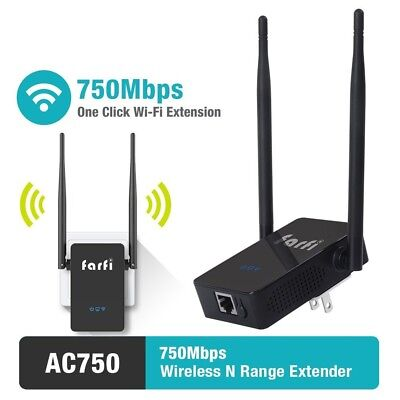 AC750 WiFi Range Extender WiFi Booster Repeater Dual Band 2.4GHz/5GHz 750Mbps
