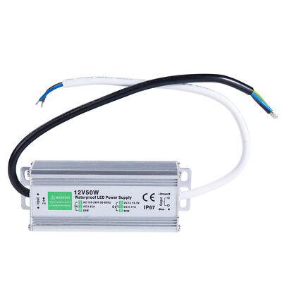 50 Watt Waterproof Led Power Supply Driver Transformer 120 To 12 Volt Dc Output
