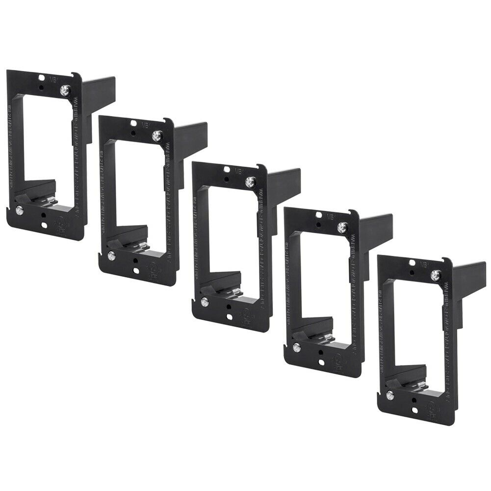 5x Low Voltage 2 Gang Mounting Bracket Drywall Mount Old Work Construction