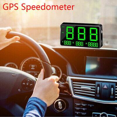 Digital  Car GPS Speedometer Head Up Display Truck Warning Monitor Universal UK