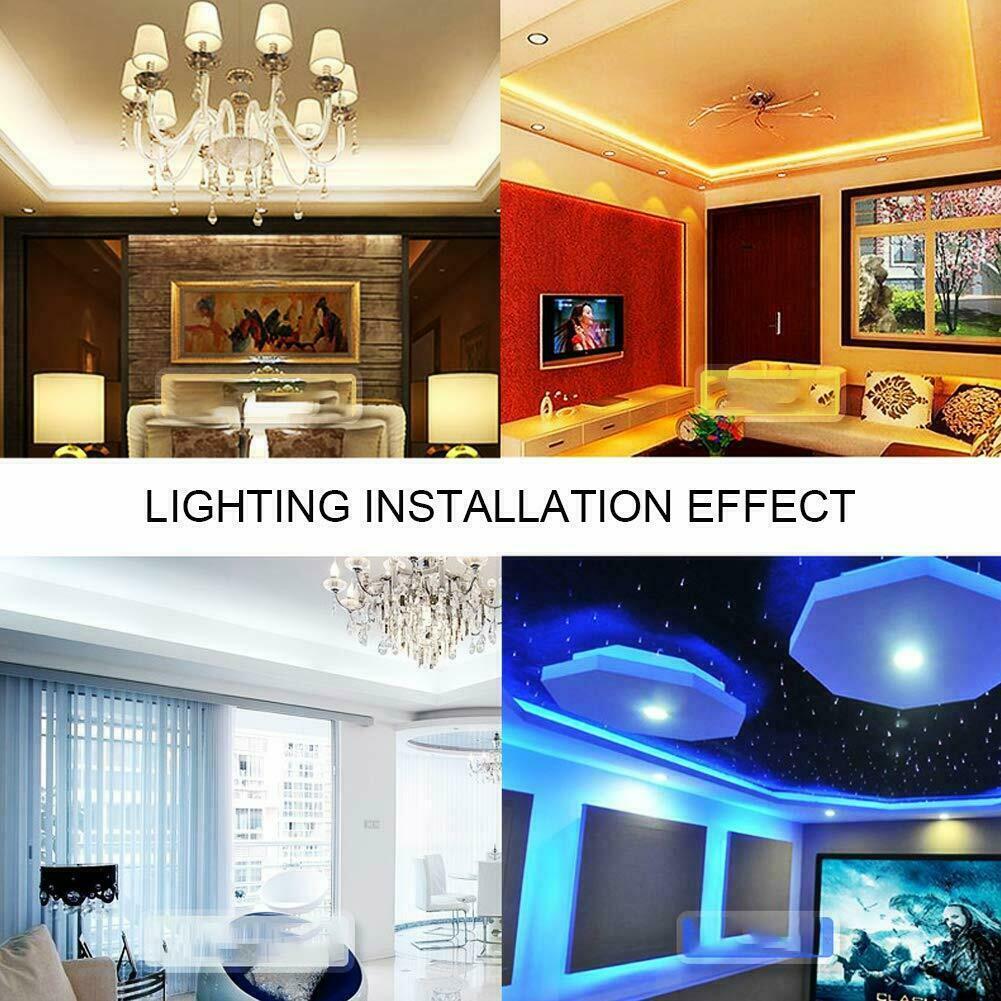 32.8 Feet RGB Waterproof LED Strip Light SMD 44 Key Remote 12V DC Power Kit 5050 Home & Garden