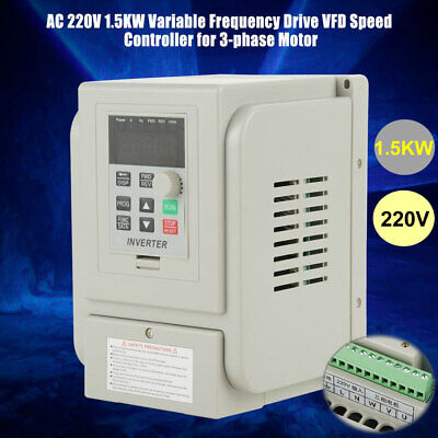 2hp 1.5kw Variable Frequency Drive Inverter Converter Vfd Speed Controller