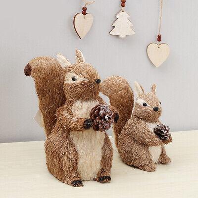 Christmas Simulation Squirrel Dolls Christmas Ornament Bookcase Desktop Decor ()