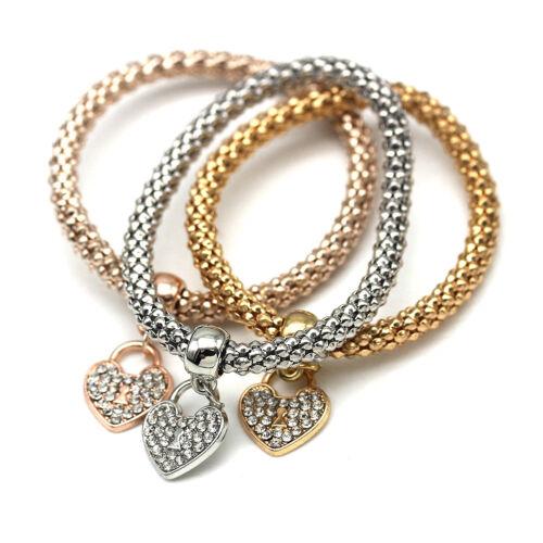 Fashion Metal Chain Bracelet With Heart Pendant Women Girls' Jewelry