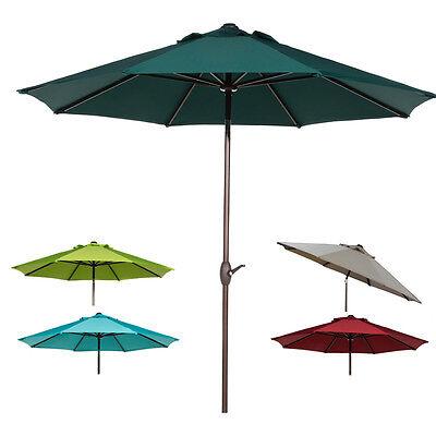 Abba Patio 9 FT Patio Umbrella Outdoor Market Umbrella with Auto Tilt and Crank