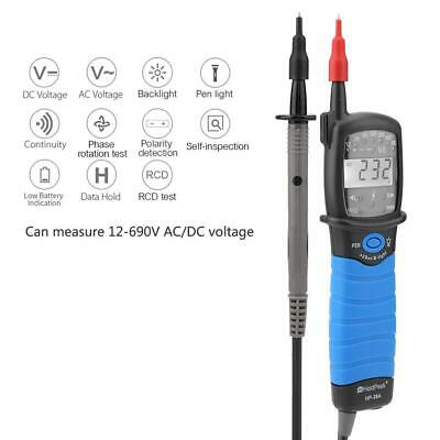 Holdpeak Non-contact Acdc Electrical Tester Pen Voltage Phase Rotation Detector