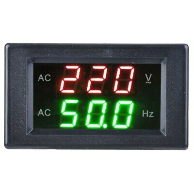 Generator Dual Display Led Digital Ac Voltmeter Frequency Meter Testing Tool