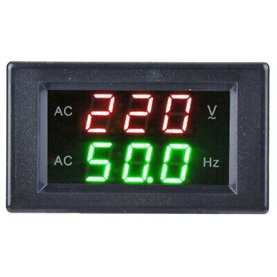 Generator Dual Display Led Digital Ac Voltmeter Frequency Meter Testing Tool