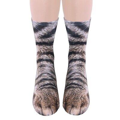Adult Animal Paw Crew Socks   Sublimated Print