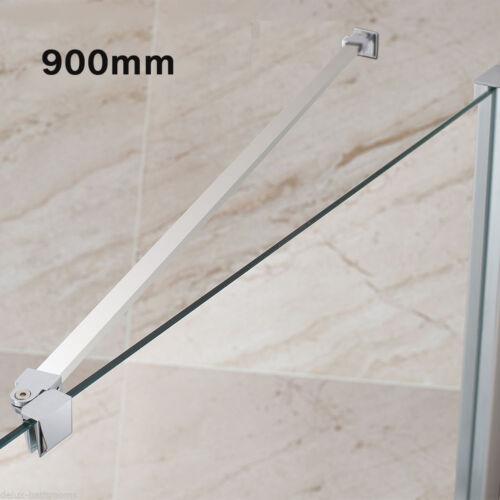 Edelstahl Stabilisator 90cm Wandhalterung für Duschwände Stabilisierungsstange