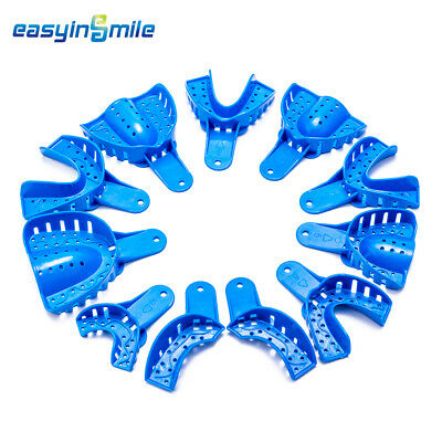 12pc Dental Easyinsmile Perforated Plastic Impression Trays Upperlower Smlxl