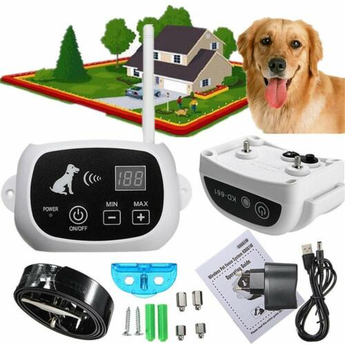 Instant Wireless Electric Dog Fence System Waterproof Shock Collars For 1-3 Dogs