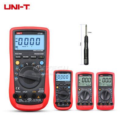 Uni-t Digital Automobile Multimeter For Car Ac Dc Dwell Tach Temp Ohm Freq Test