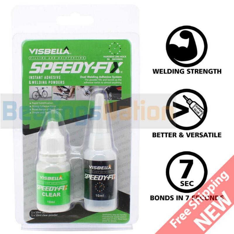 Visbella Speedy Fix Quick Bonding Glue Clear Resin Powder Welding filling