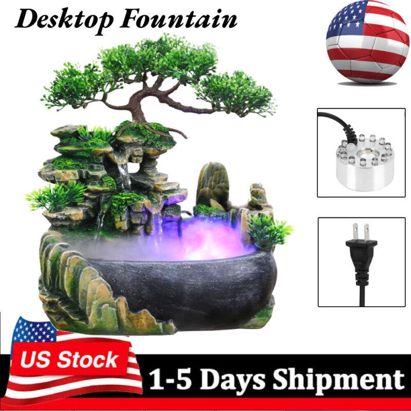 Rockery Fountain Waterfall Feng Shui Desktop Water Sound Indoor Desk Decor