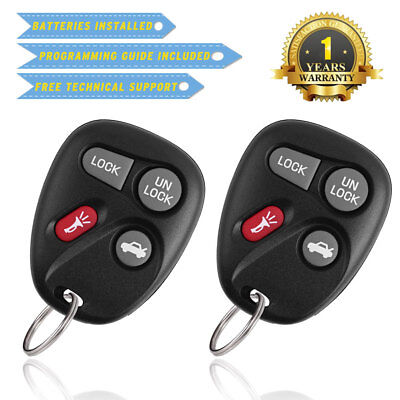 Monte Carlo Key (2 for Chevy Impala Monte Carlo 2001 2002 2003 2004 2005 Keless Entry Remote Key )