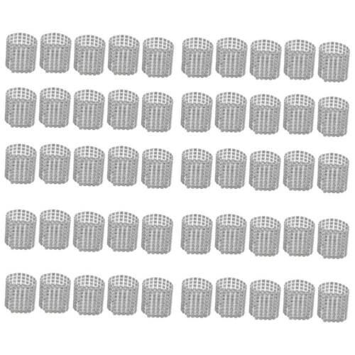 50PCS Mesh Wrap Napkin Ring Serviette Holder Chair Band Wedd
