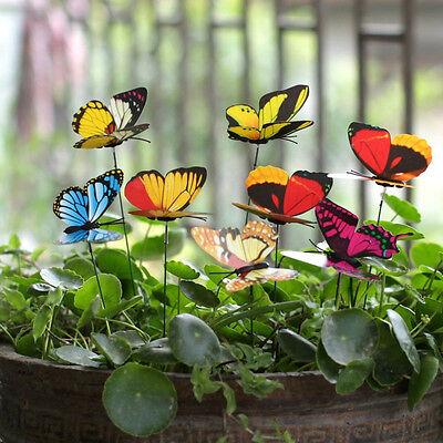 25 PCS Fake Butterflies Outdoor Garden Planting Flower Pot Butterfly Decoration (Fake Butterflies)