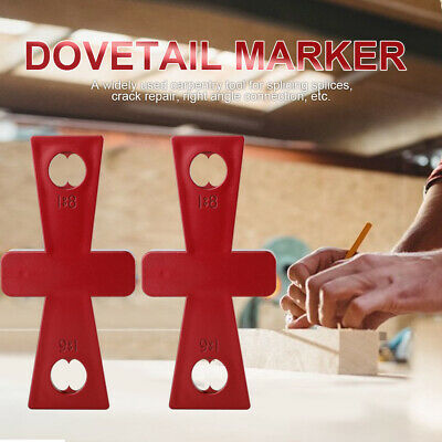2pcs Diy Ruler Dovetail Marker Line Planner For Carpenter Templates Drawing Tool