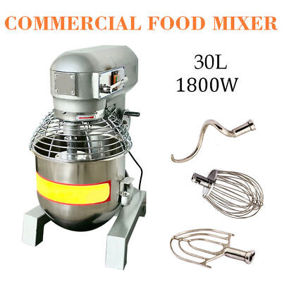 Commercial Dough Food Mixer New 3 Speed 2.4hp 30qt Gear Driven Bakery Blender