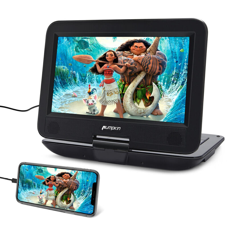 """Rechargeable 10.1"""" Portable DVD CD Player HD Display USB HDMI AV-IN Region Free"""