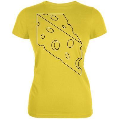 Halloween Swiss Cheese Food Costume Juniors Soft T Shirt