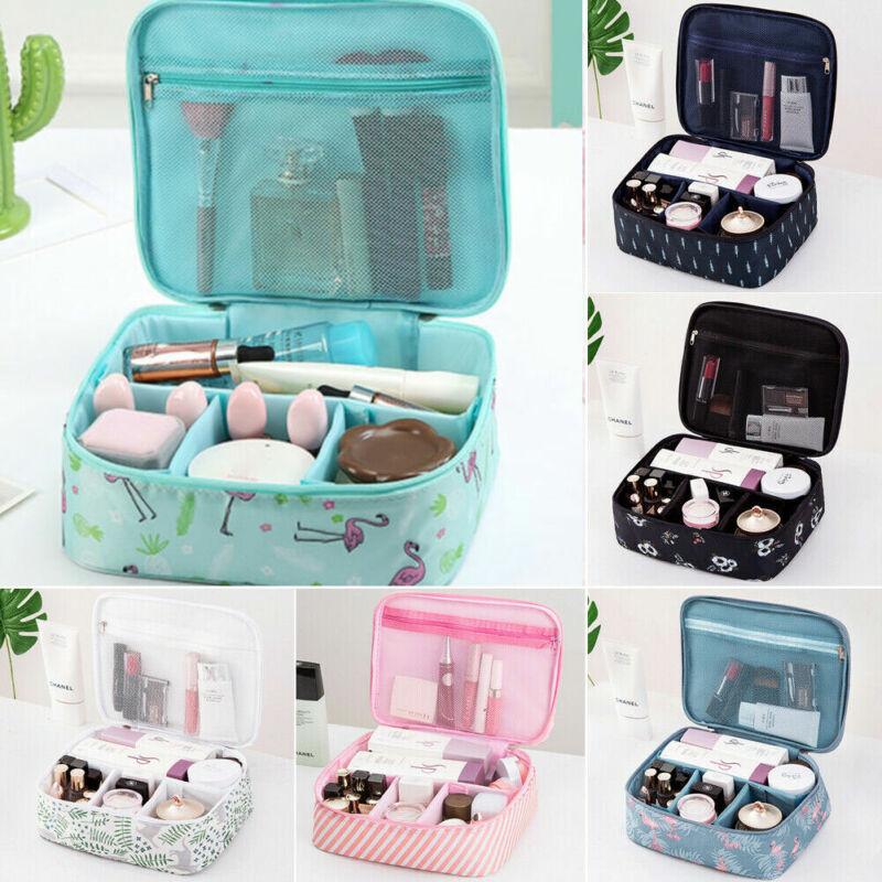 Women Lady Print Cosmetic Makeup Bag Travel Toiletry Storage