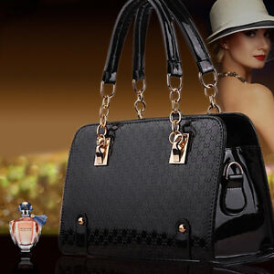 Fashion Designer Large Womens PU Leather Style Tote Shoulder Bag Handbag Ladies