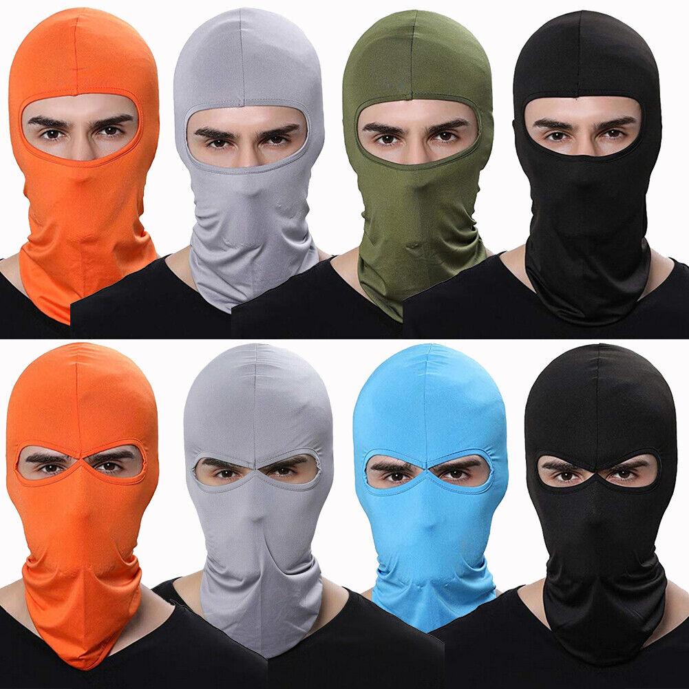 Men Women  Thin Balaclava Face Mask Sun UV Protection Neck H