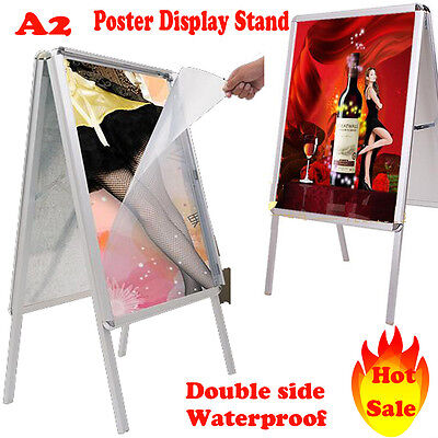 A2 A-Board Pavement Poster Snap Frame Display Stand Advertising Shop Boards-UK