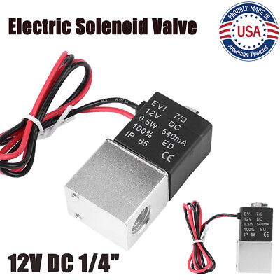 14 2 Way Normally Closed Pneumatic Aluminum Electric Solenoid Air Valve 12v Dc