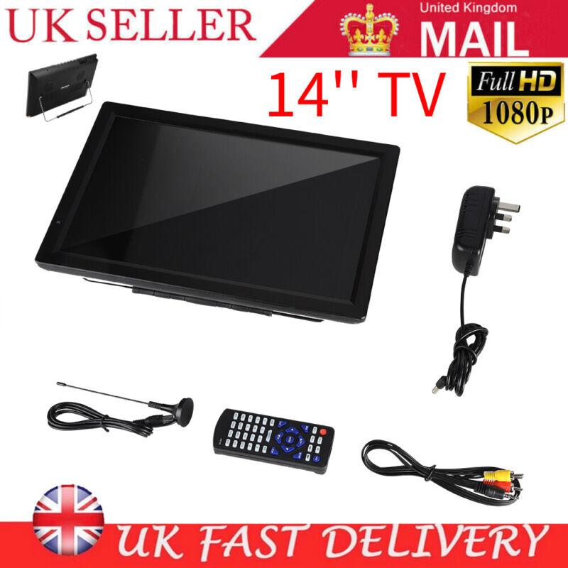 LEADSTAR+14%22+Digital+Portable+USB+TV+Television+1080P+PVR+DC+12V+110+-+220V+UK