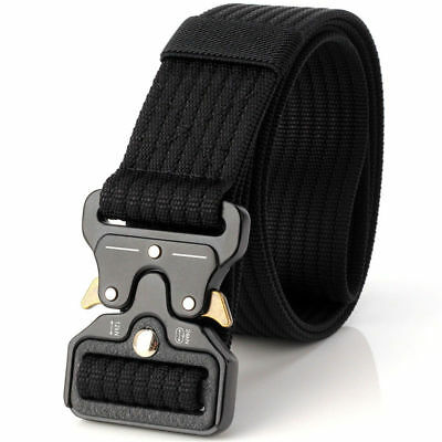 Mens Military Belt Buckle Combat Waistband Tactical Rescue Tool Adjustable USA