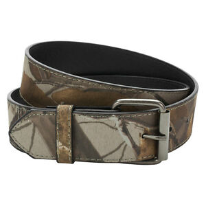 Camouflage Men's Belt Strap Hunting Camo Pattern Military Woods 1 1/2 Wide
