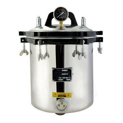 Professional 18l Steam Autoclave Sterilizer Tattoo Dental Lab Equipment