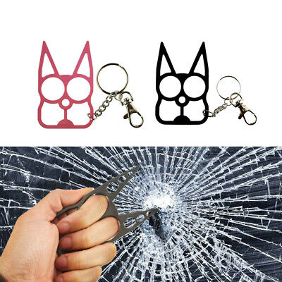 Classic Cat Self Defense Tools Key Chain Metal Keyrings Girl