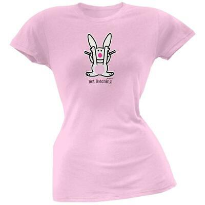 Happy Bunny Bunny (Happy Bunny - Not Listening Juniors T-Shirt )