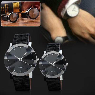 $1.64 - Luxury Quartz Mens Sport Military Stainless Steel Dial Leather Band Wrist Watch