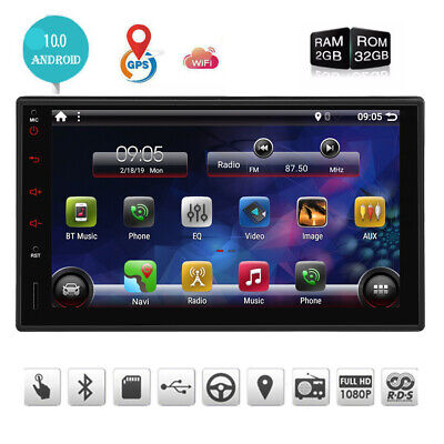 "EINCAR 7"" Smart Android 10.0 4G WiFi Double 2DIN Car Radio Stereo GPS Bluetooth"