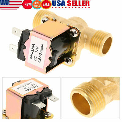 Brass Electric Solenoid Valve Switch Water Air No Dc12v 12 Normally Open Type