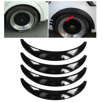"""4X 4.3""""/110mm Universal Flexible Car Fender Flares Extra Wide Wheel Arches Black"""