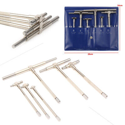 1 Set//6pcs Inner Diameter Measuring Tool Adjustable Telescopic Gauge 8-150 mm Internal Measurement Bore Engineers Kit