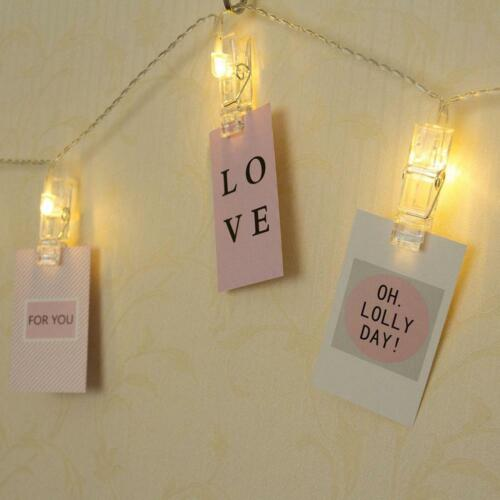 LED String Lights with Clips to Hang Pictures for Room Decor