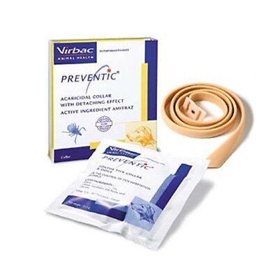Virbac Preventic Dog Tick Collar up to 4 months protection kills ticks flea(1ea)