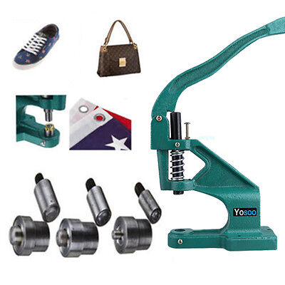 Handpresse Stanze Spindelpresse Ösenpresse Knopfmaschine mit 3 Schimmel ZH 11