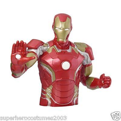 The Avengers Age of Ultron Iron Man Bust Bank Marvel Comics Piggy Bank NEW