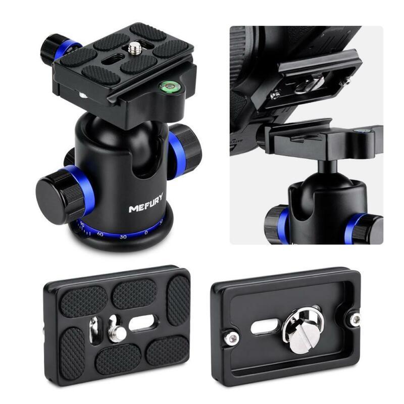 Pro 10KG Heavy Duty Tripod Monopod Ball Head DSLR Camera 1/4 Quick Release Plate
